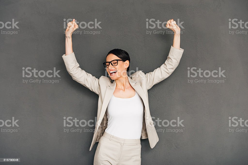 Hurray! stock photo
