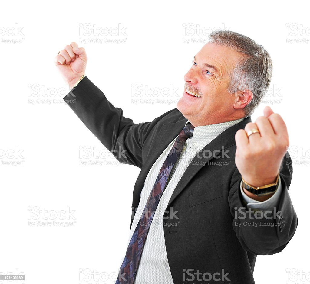 Hurray we did it! stock photo