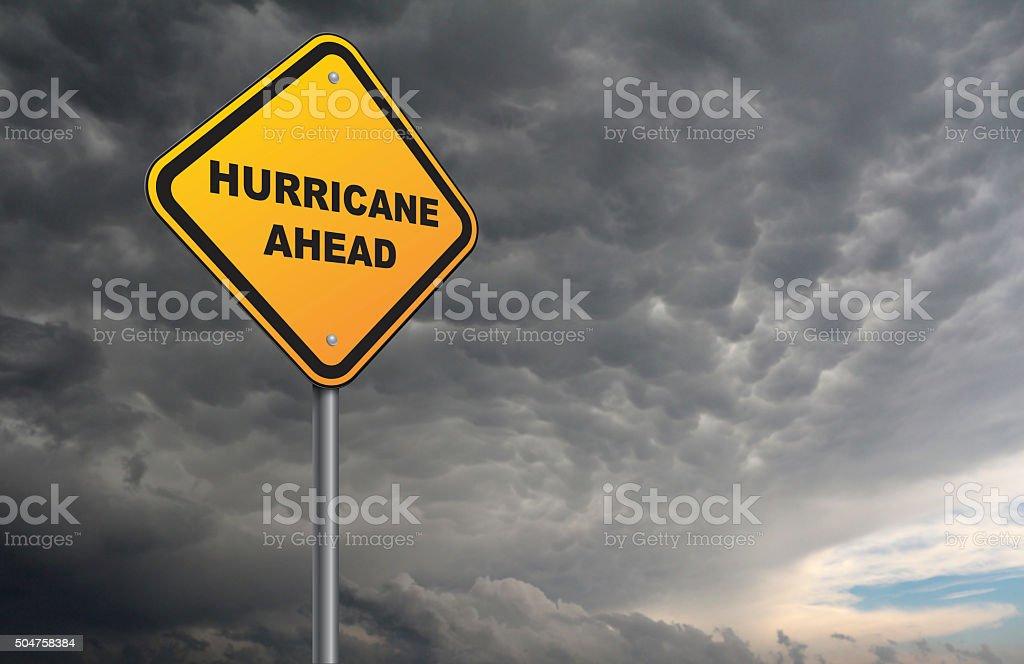 hurricane ahead stock photo