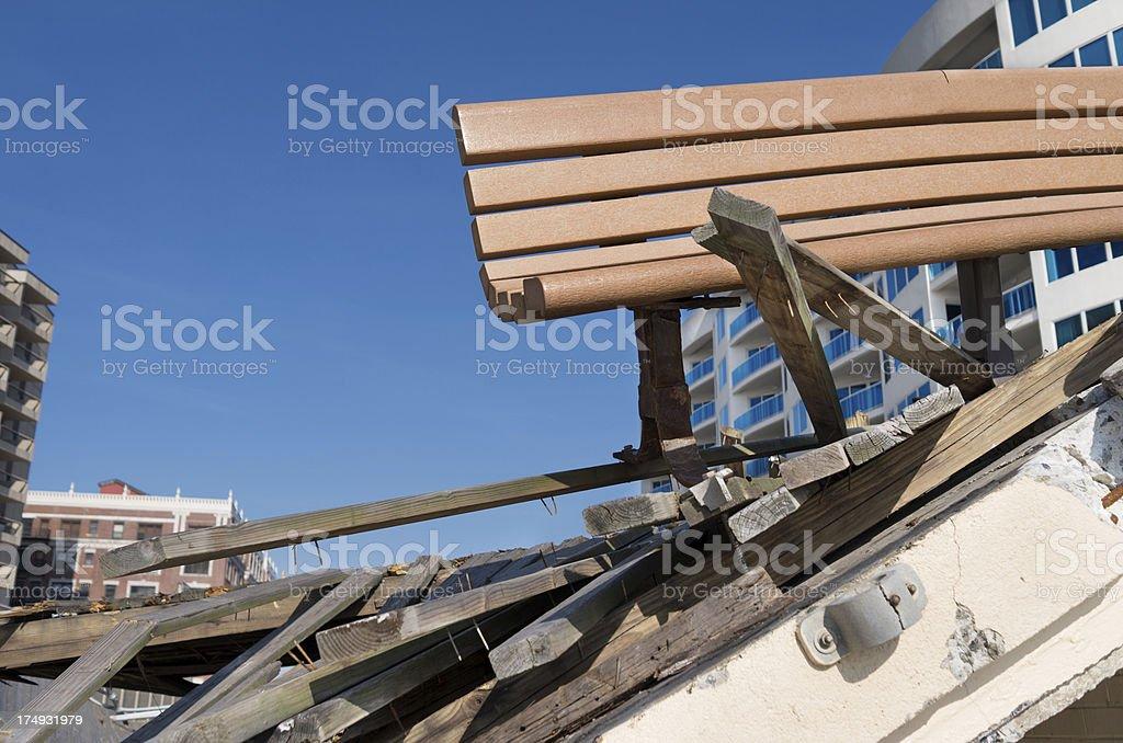 Hurricane beach Damage stock photo