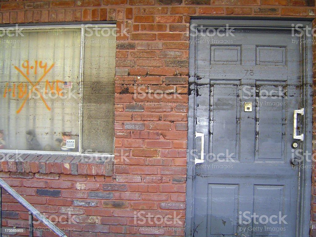 Hurricane damage 9 stock photo