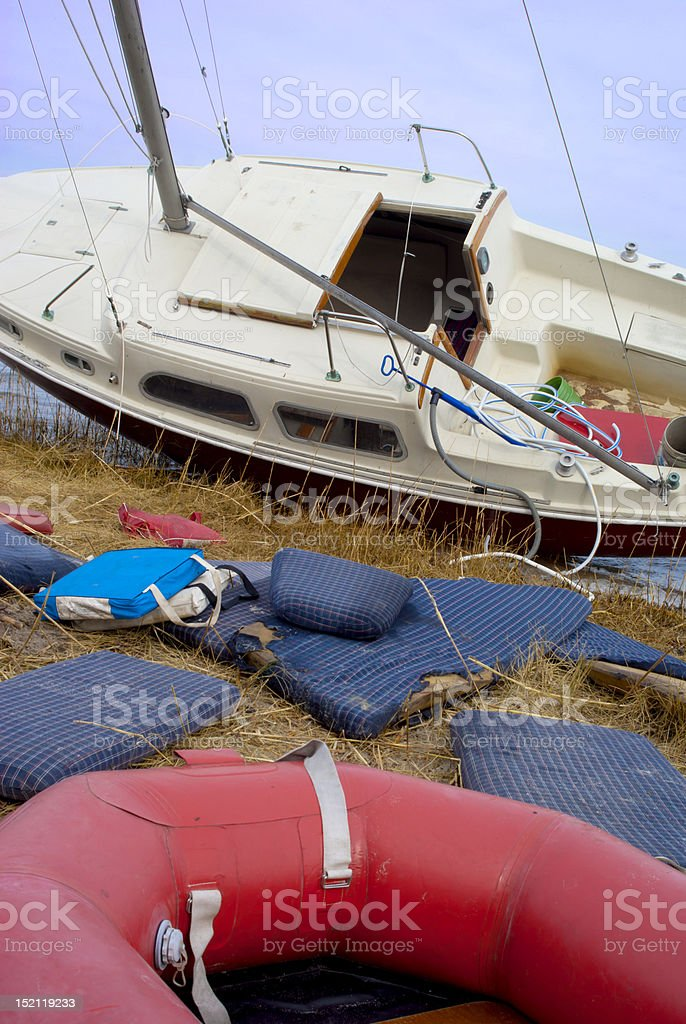 Hurricane Damage royalty-free stock photo