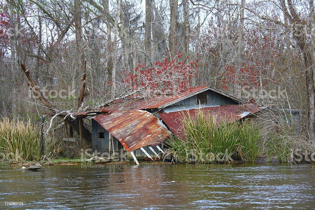 Hurricane Damaged Building stock photo
