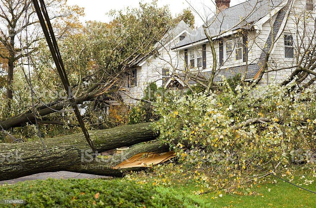 Hurricane Damaged Homes stock photo