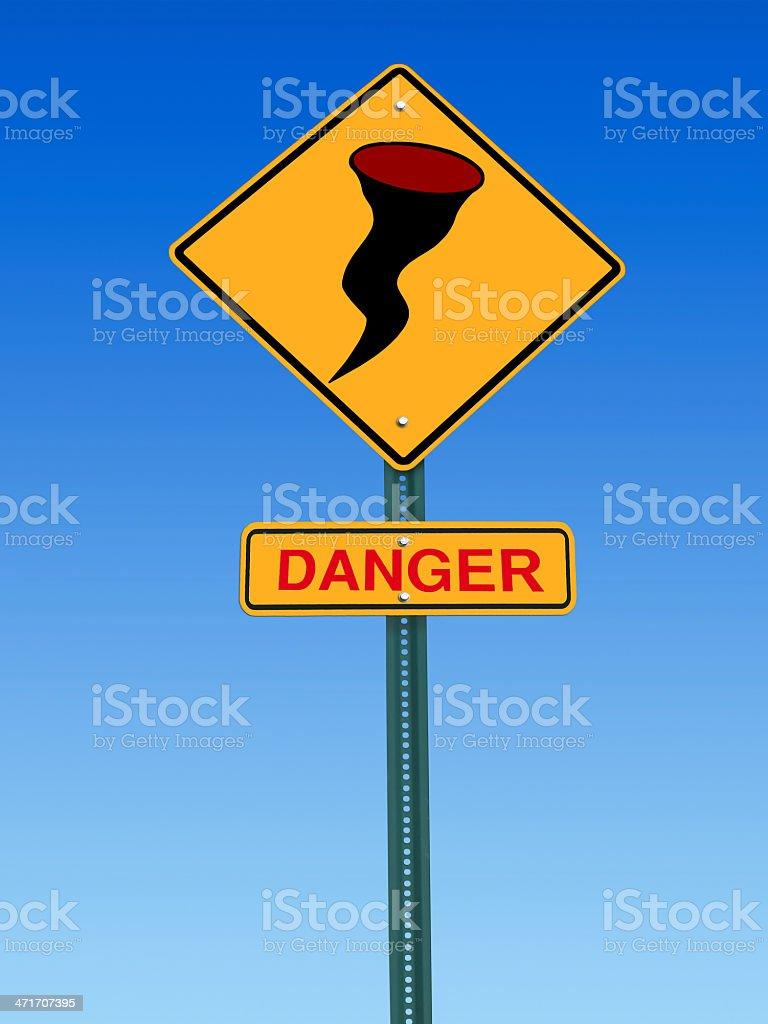 hurricane danger warning  sign royalty-free stock photo
