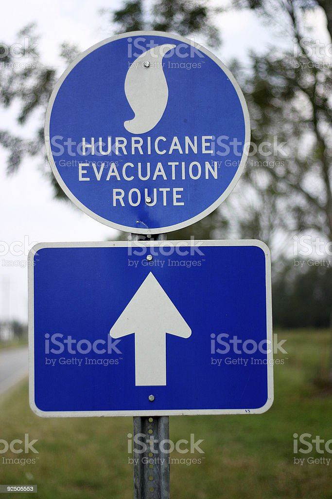 Hurricane Evacuation Route royalty-free stock photo