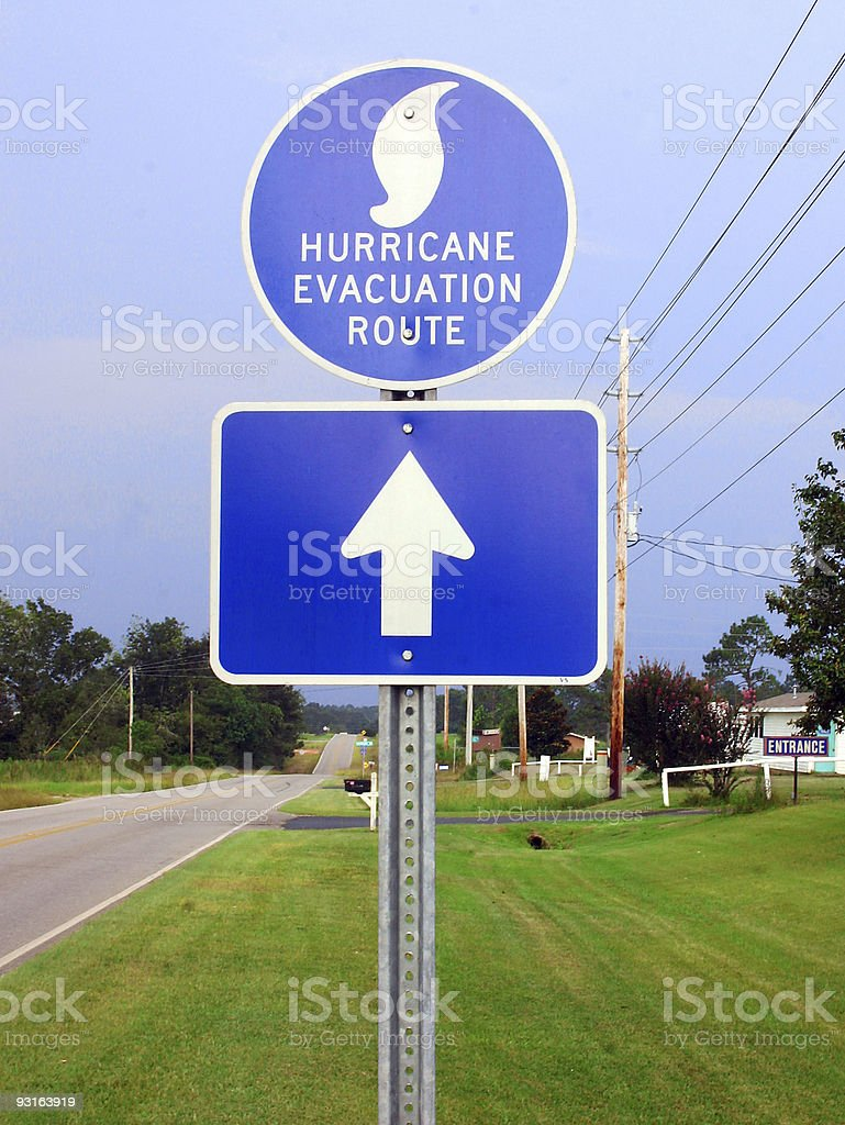 Hurricane Evacuation Route stock photo