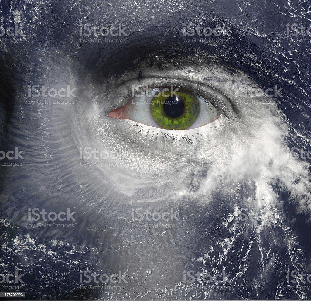 Hurricane eye royalty-free stock photo