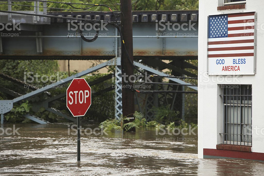 Hurricane Flood stock photo
