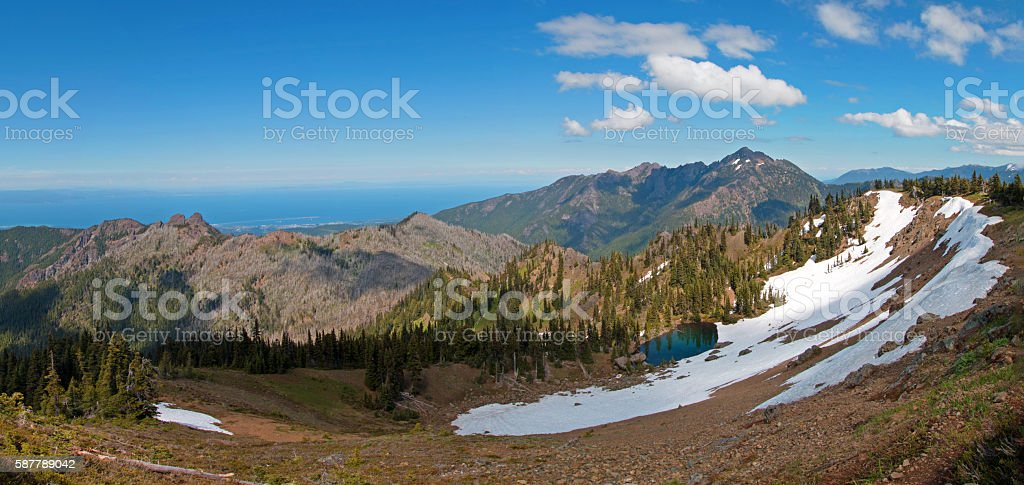 Hurricane Hill / Ridge Panoramic View stock photo