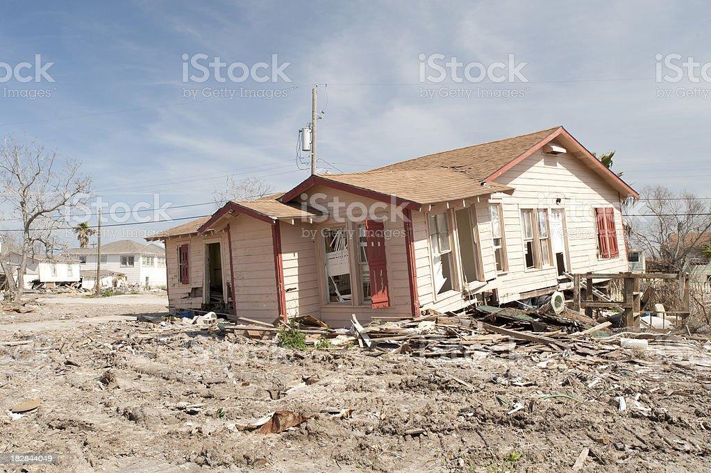 Hurricane Ike damage stock photo