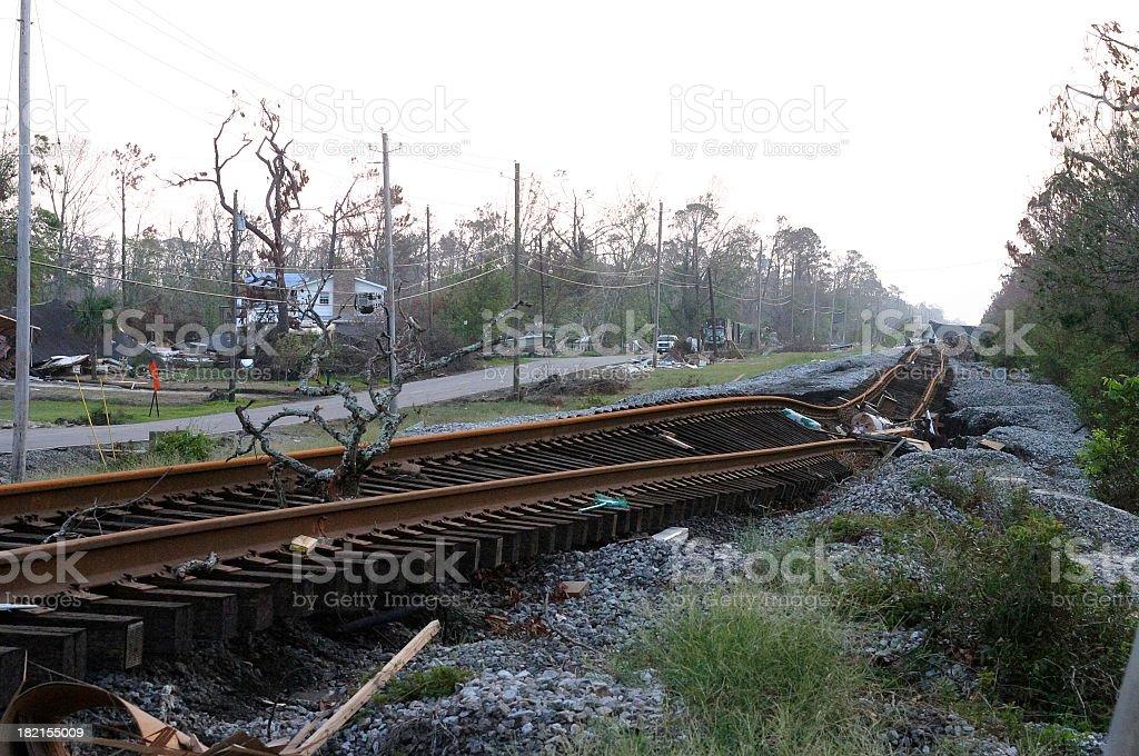 Hurricane Katrina-  Complete Destruction stock photo