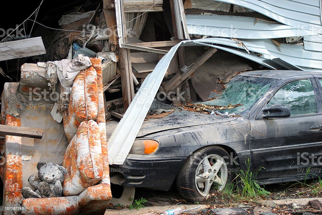 Hurricane Katrina Damage - Lower Ninth Ward stock photo