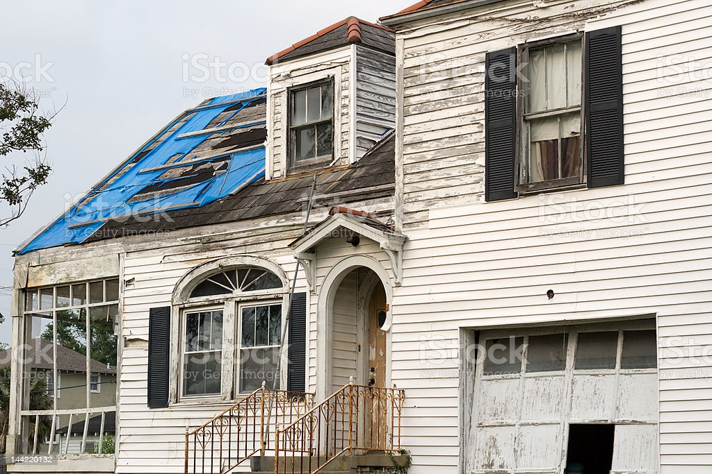 Hurricane Katrina Damage royalty-free stock photo