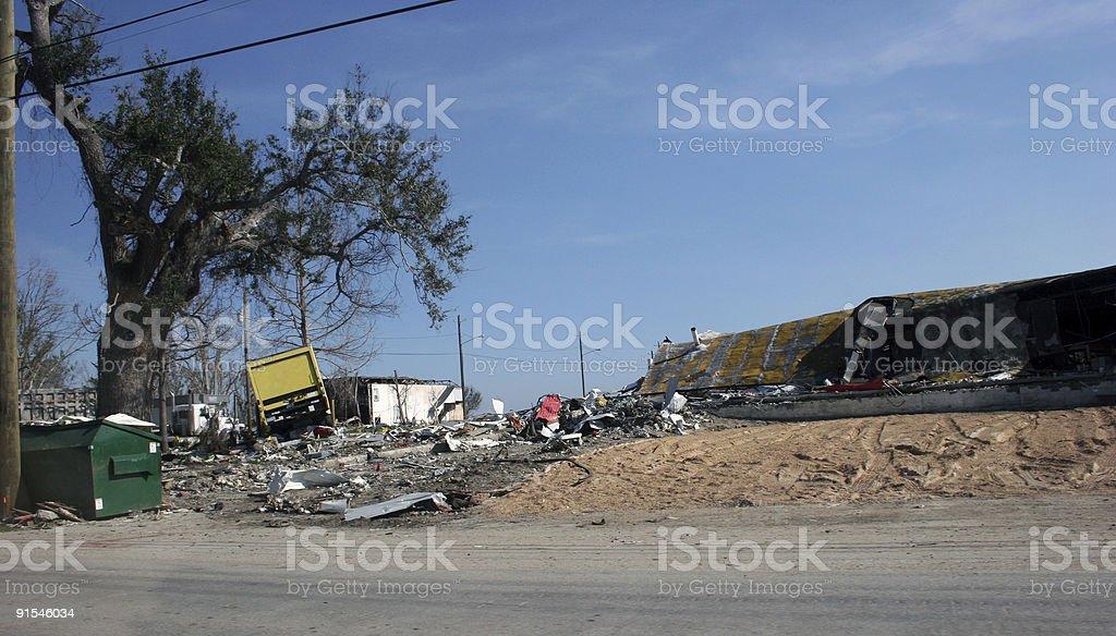 Hurricane Katrina Damage stock photo