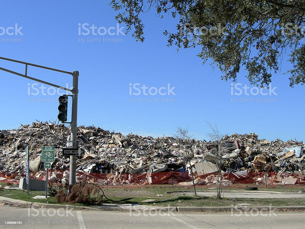 Hurricane Katrina - Garbage Day stock photo