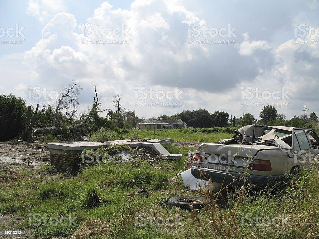 Hurricane Katrina - Lower Ninth Ward royalty-free stock photo