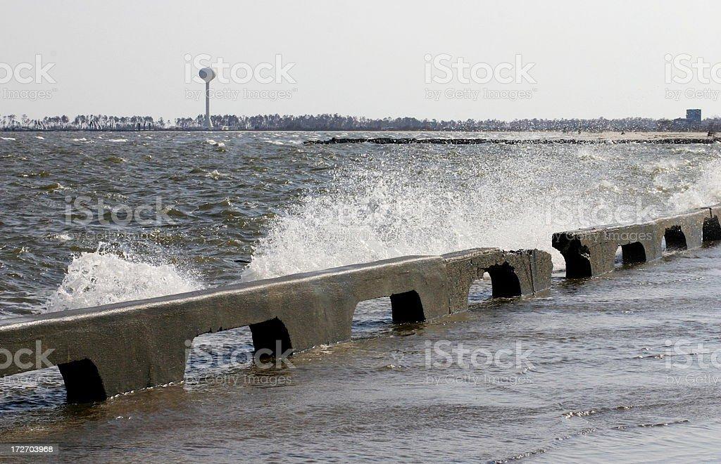 Hurricane Katrina- Over the Sea Wall, Days After stock photo
