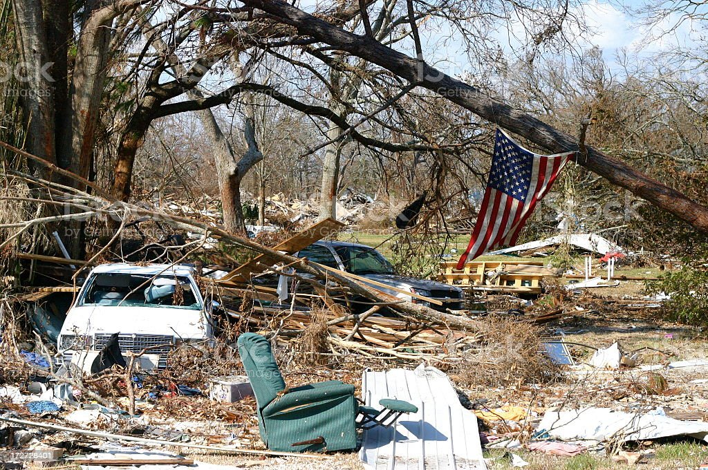 Hurricane Katrina stock photo