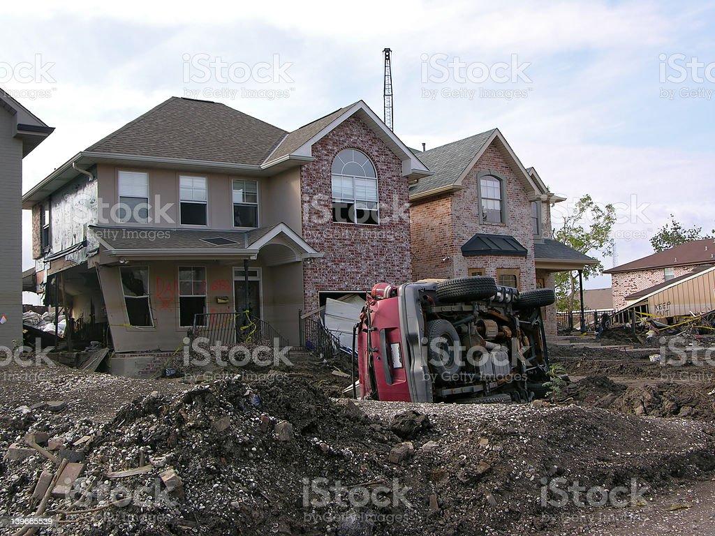 Hurricane Katrina - Power of Water royalty-free stock photo