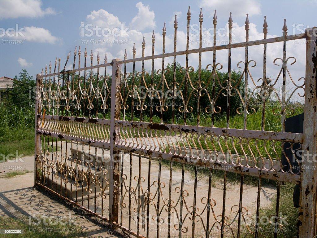 Hurricane Katrina - Wrought Iron Fence royalty-free stock photo