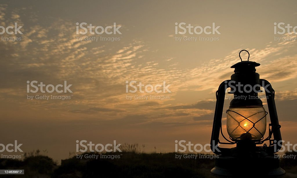 Hurricane Lantern Sunrise royalty-free stock photo