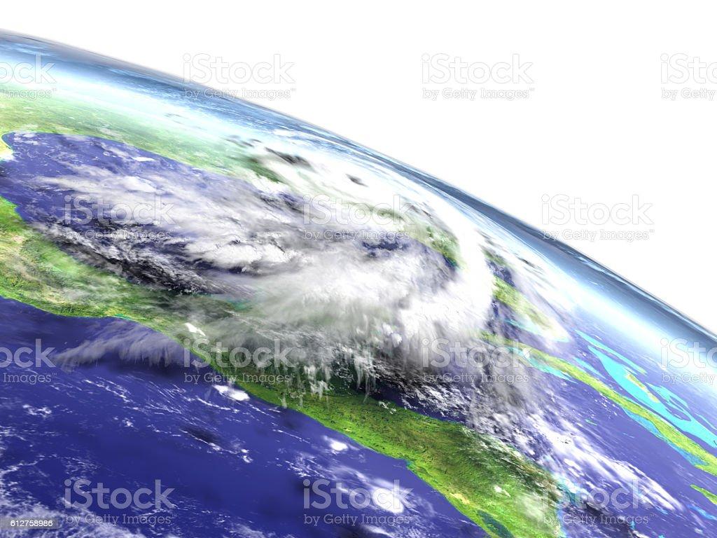 Hurricane Matthew disaster stock photo