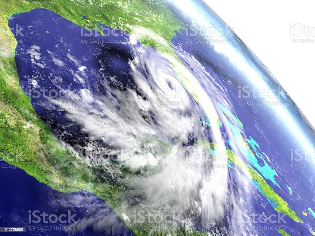 Hurricane Matthew from orbit stock photo