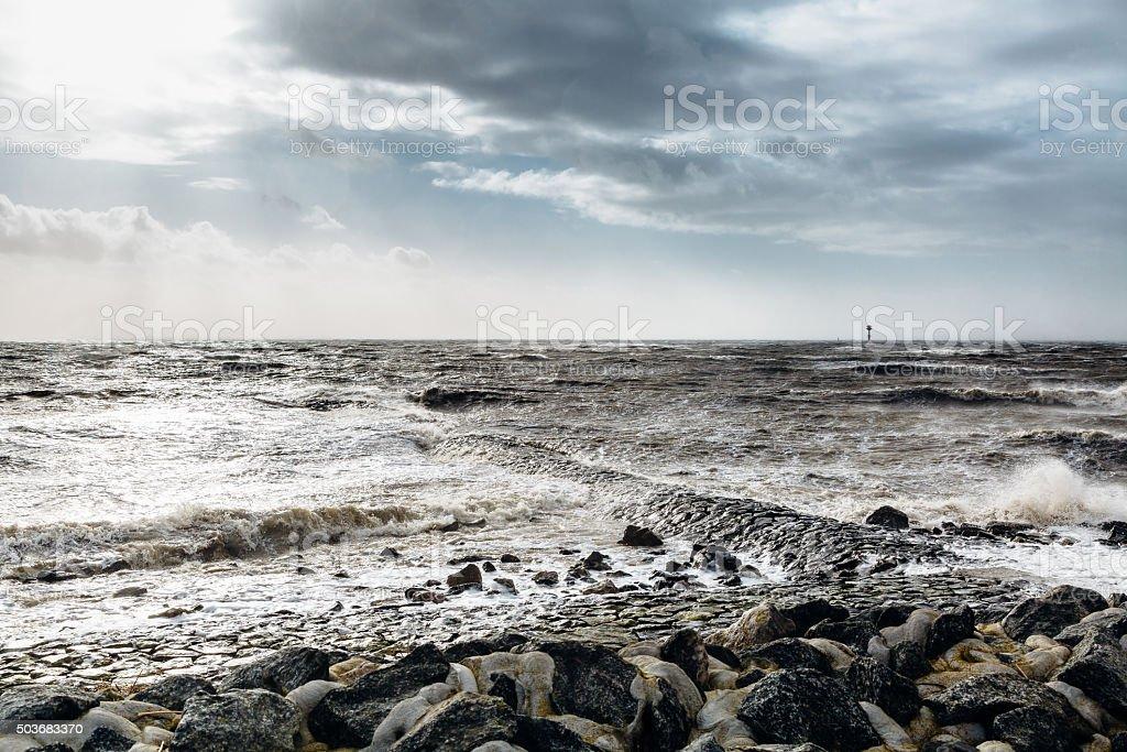 hurricane niklas stock photo