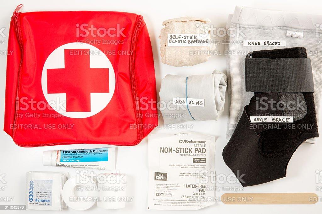Hurricane Preparedness, First Aid (Editorial) stock photo