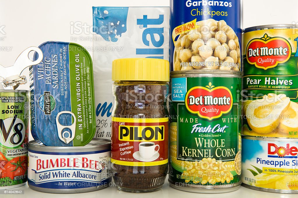 Hurricane Preparedness, Food (Editorial) stock photo