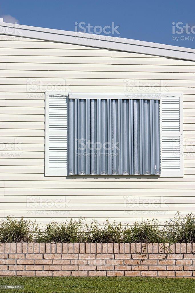 Hurricane Protection Panels stock photo