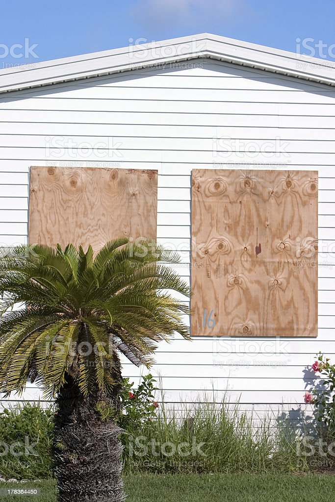 Hurricane Protection Plywood Panels5 royalty-free stock photo