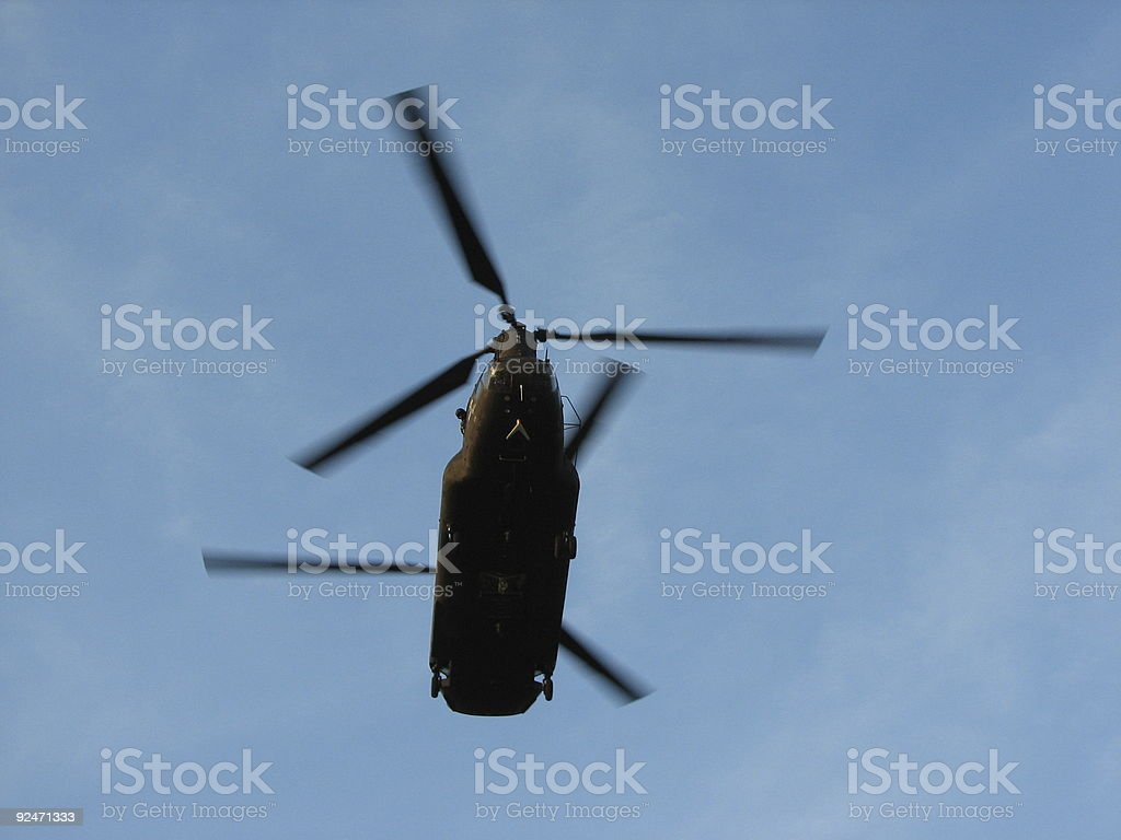 Hurricane Relief CH-47 Chinook stock photo