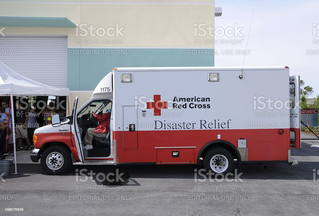 Hurricane relief truck royalty-free stock photo