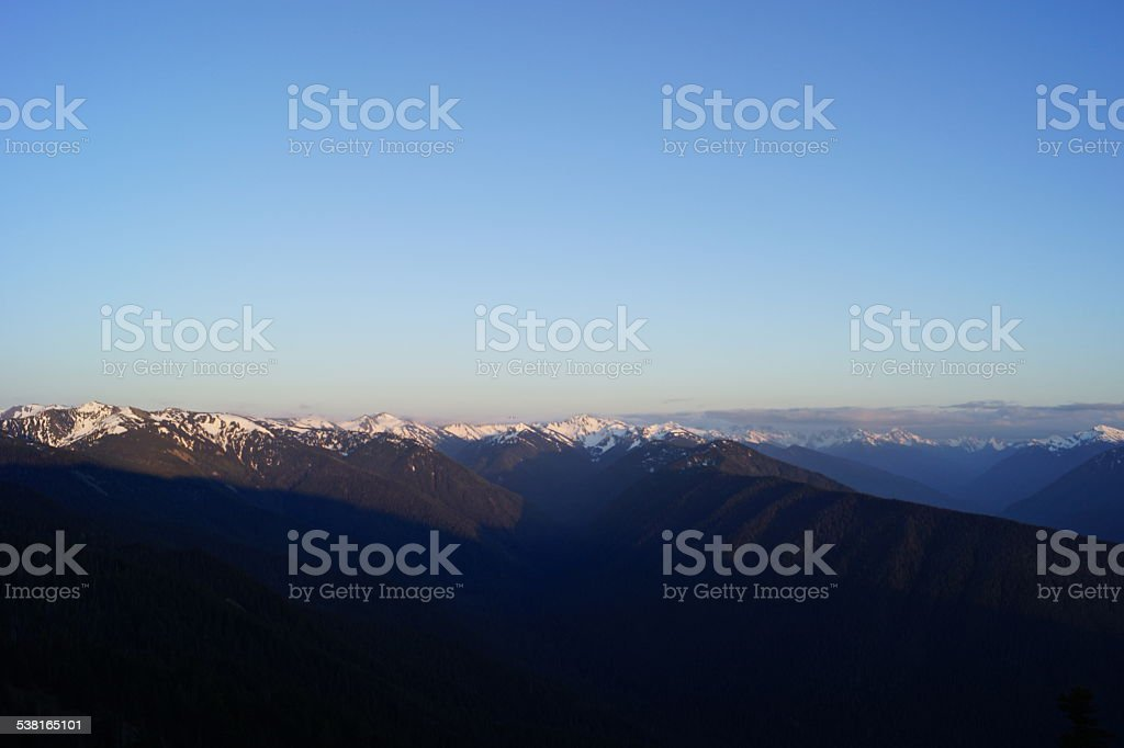 Hurricane Ridge Sunset stock photo