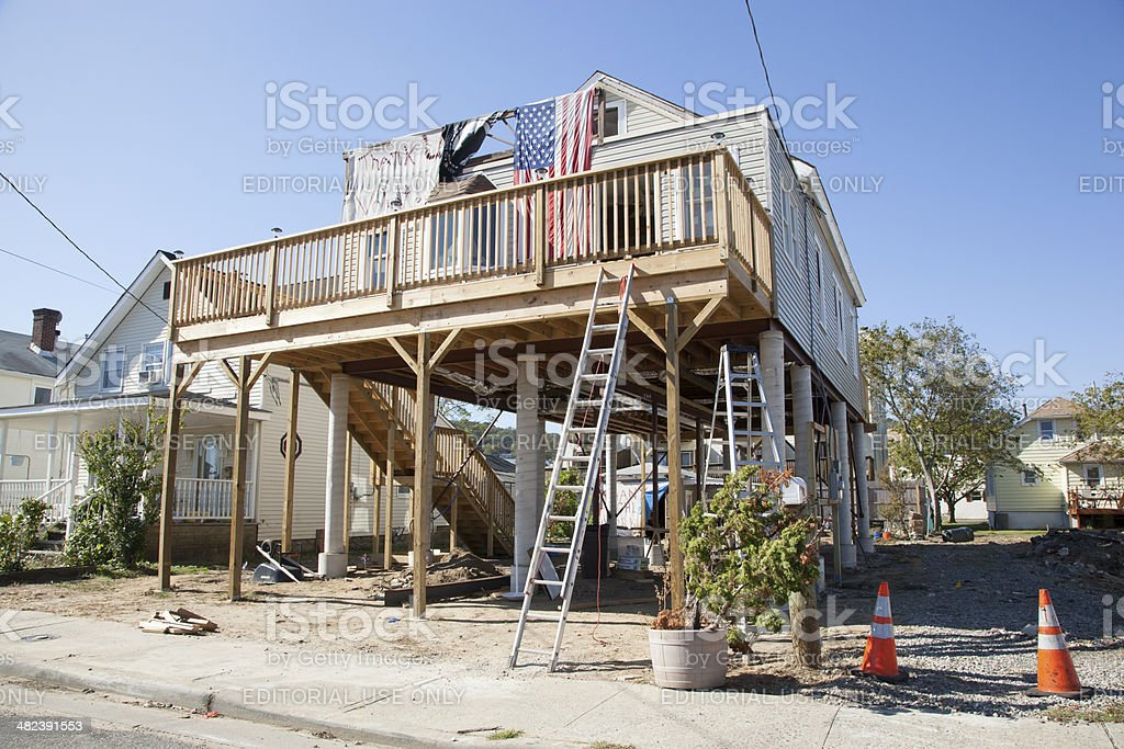 Hurricane Sandy - 1 Year Later Highlands stock photo
