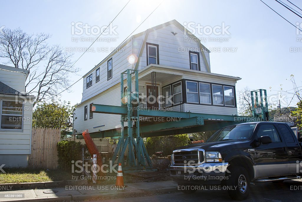 Hurricane Sandy - 1 Year Later Highlands stock photo