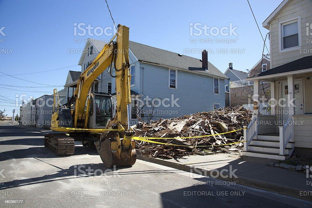 Hurricane Sandy - 1 Year Later Sea Bright stock photo