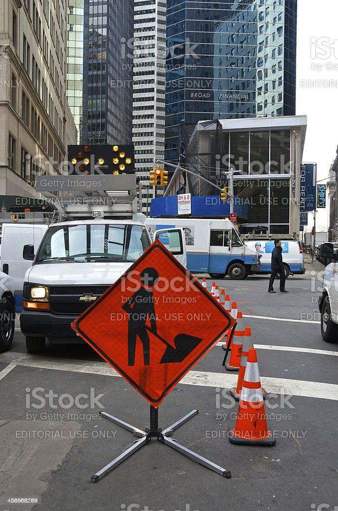 Hurricane Sandy Aftermath, 6 Weeks Later, Lower Manhattan, NYC stock photo