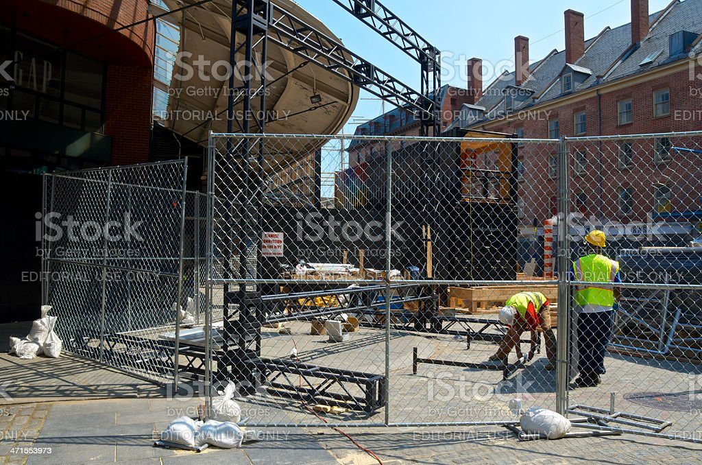 Hurricane Sandy Aftermath, 7 Months Later, Fulton Market, Lower Manhattan stock photo