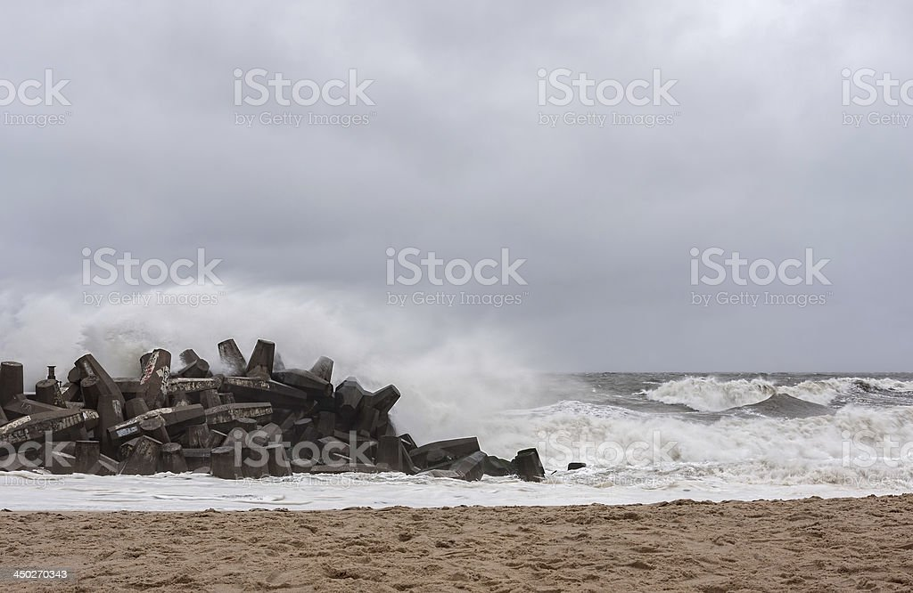 Hurricane Sandy Approaches New Jersey Shore stock photo