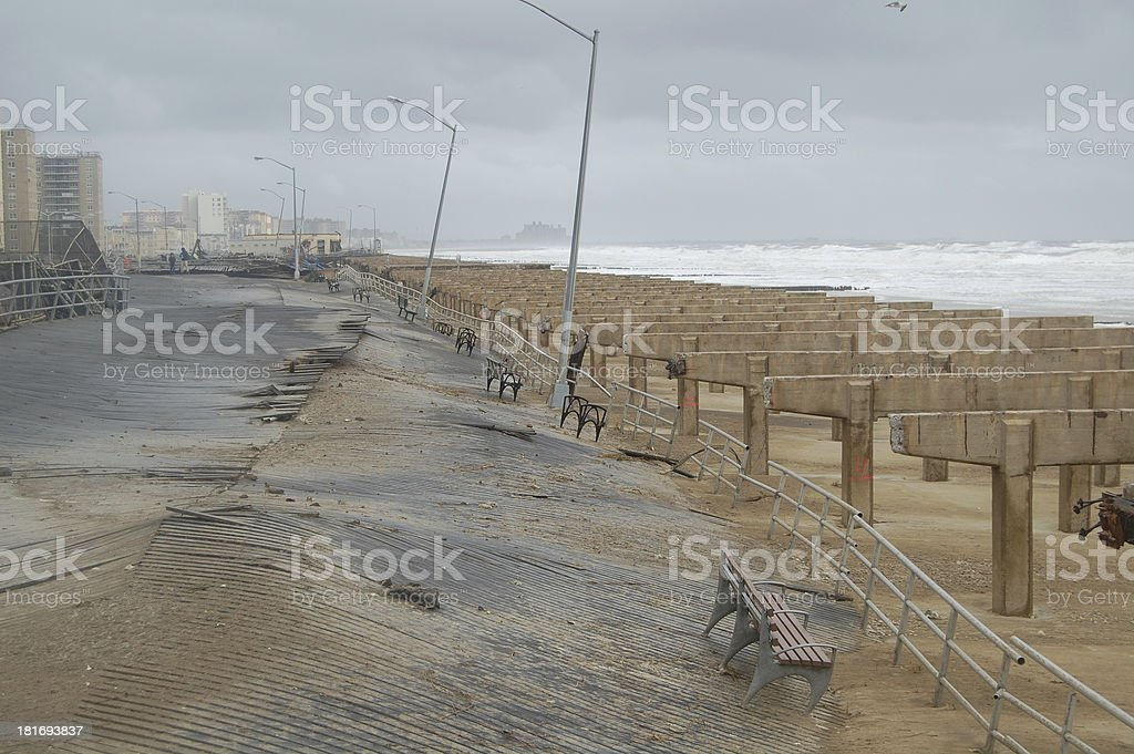 Hurricane Sandy Destruction (2) stock photo