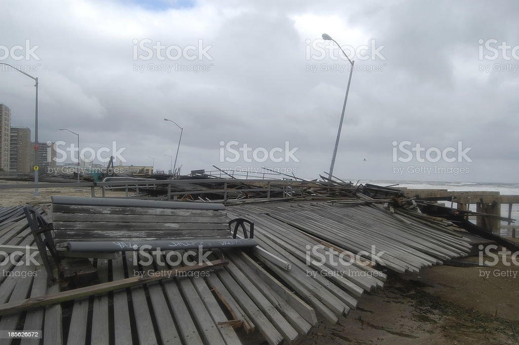 Hurricane Sandy Destruction (13) stock photo