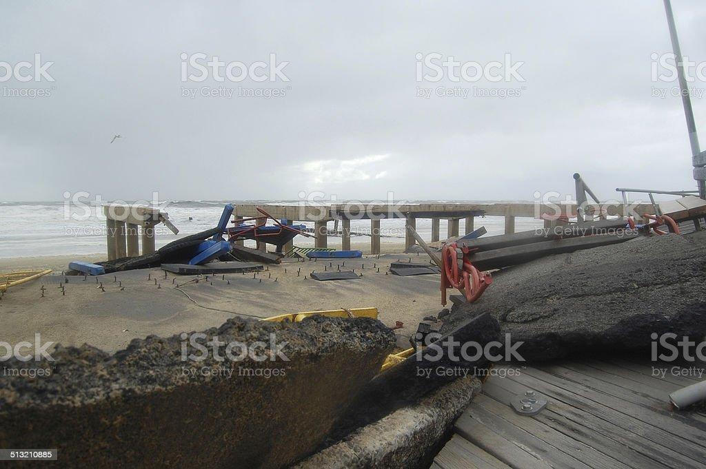 Hurricane Sandy Destruction (37) stock photo