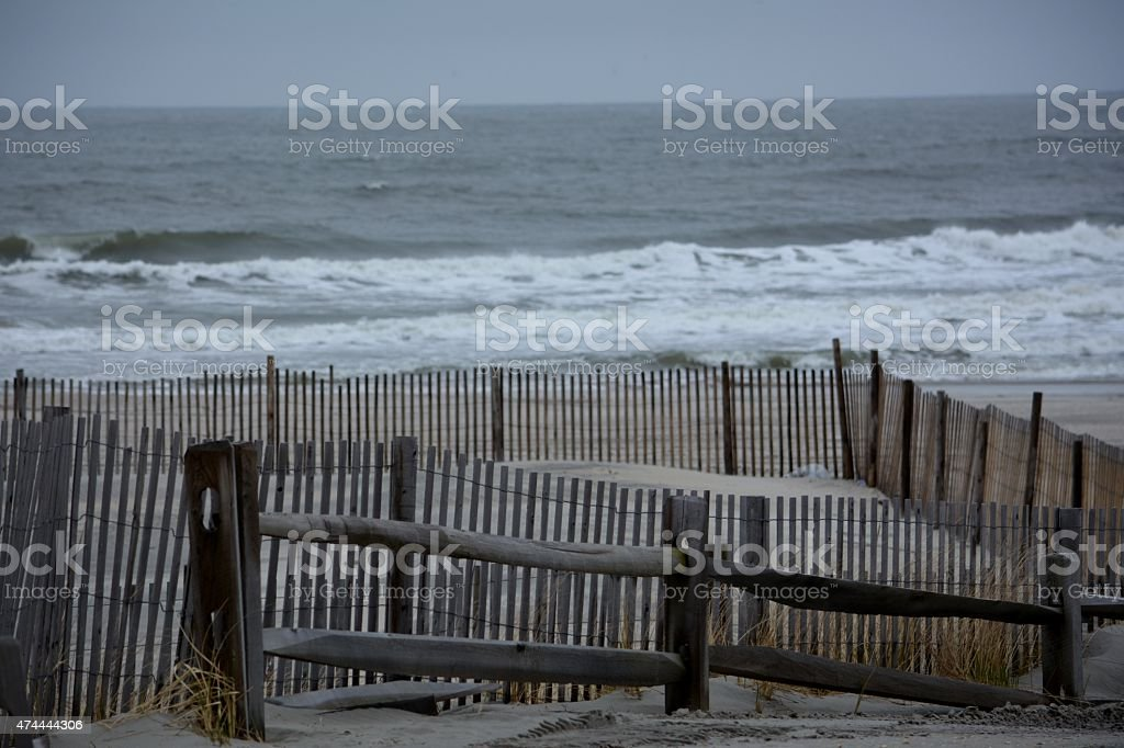 Hurricane Sandy New Jersey Shore stock photo