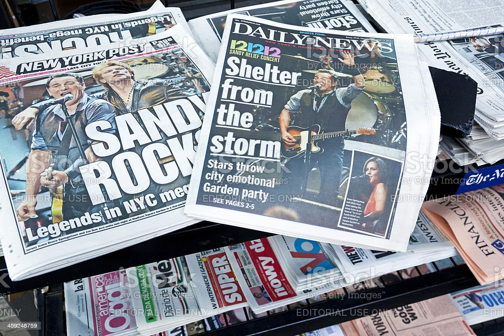 Hurricane Sandy news # 1 XXL royalty-free stock photo