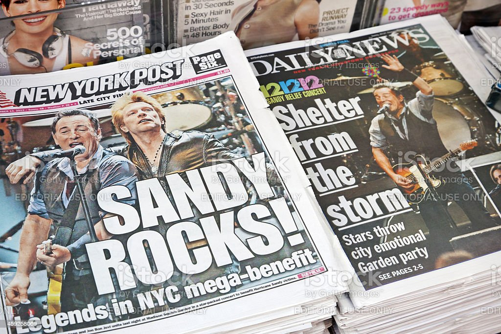 Hurricane Sandy news # 2 XXXL stock photo