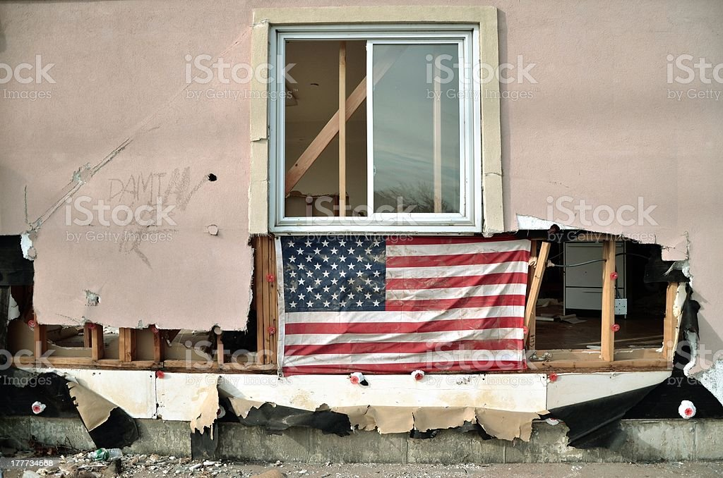 Hurricane Sandy stock photo