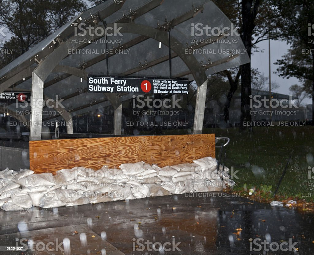 NEW YORK - Hurricane Sandy stock photo